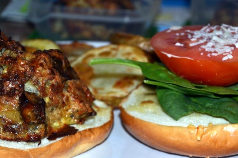 Chicken and Mushroom Burgers
